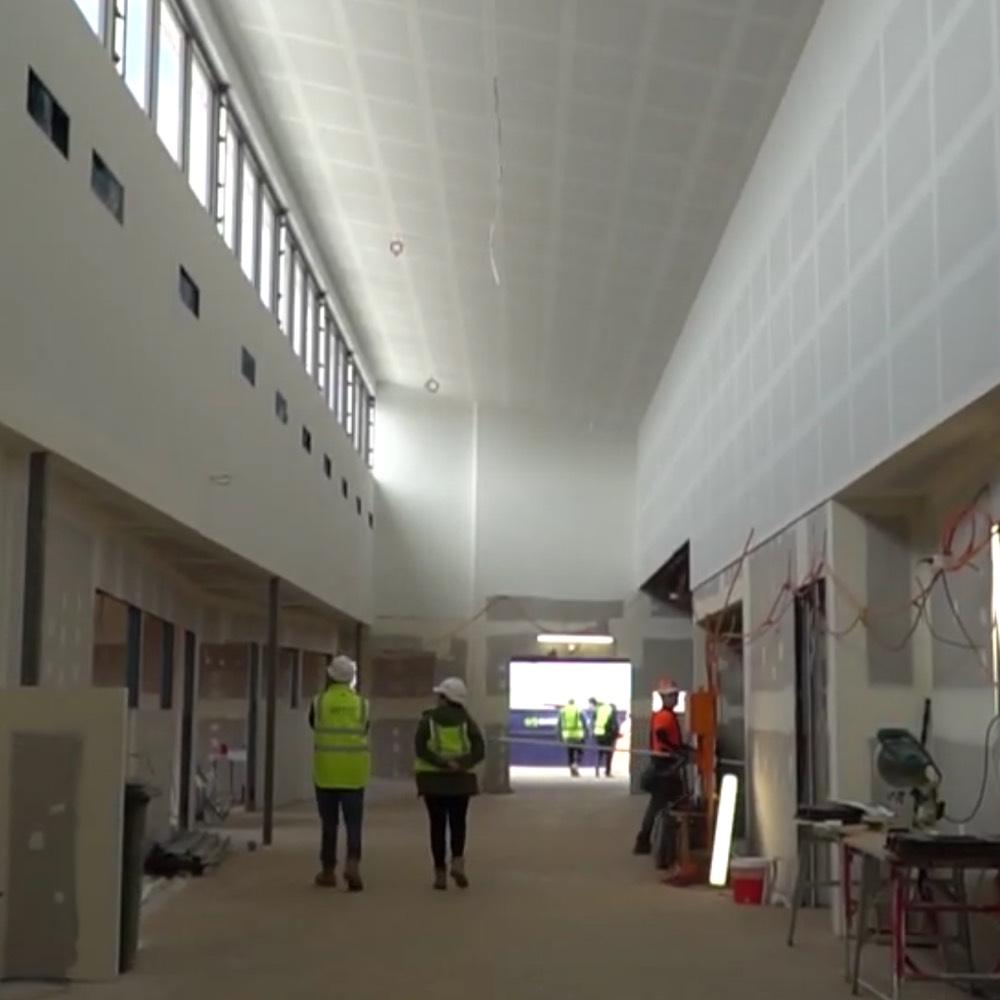Angle Vale School under construction inside