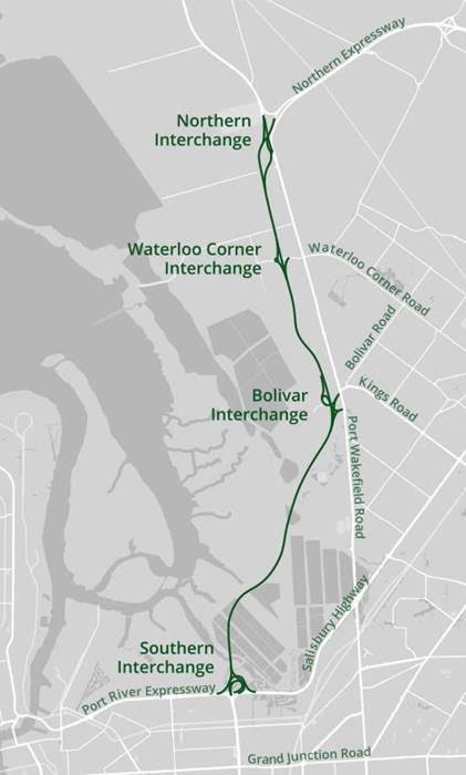 Northern Connector map